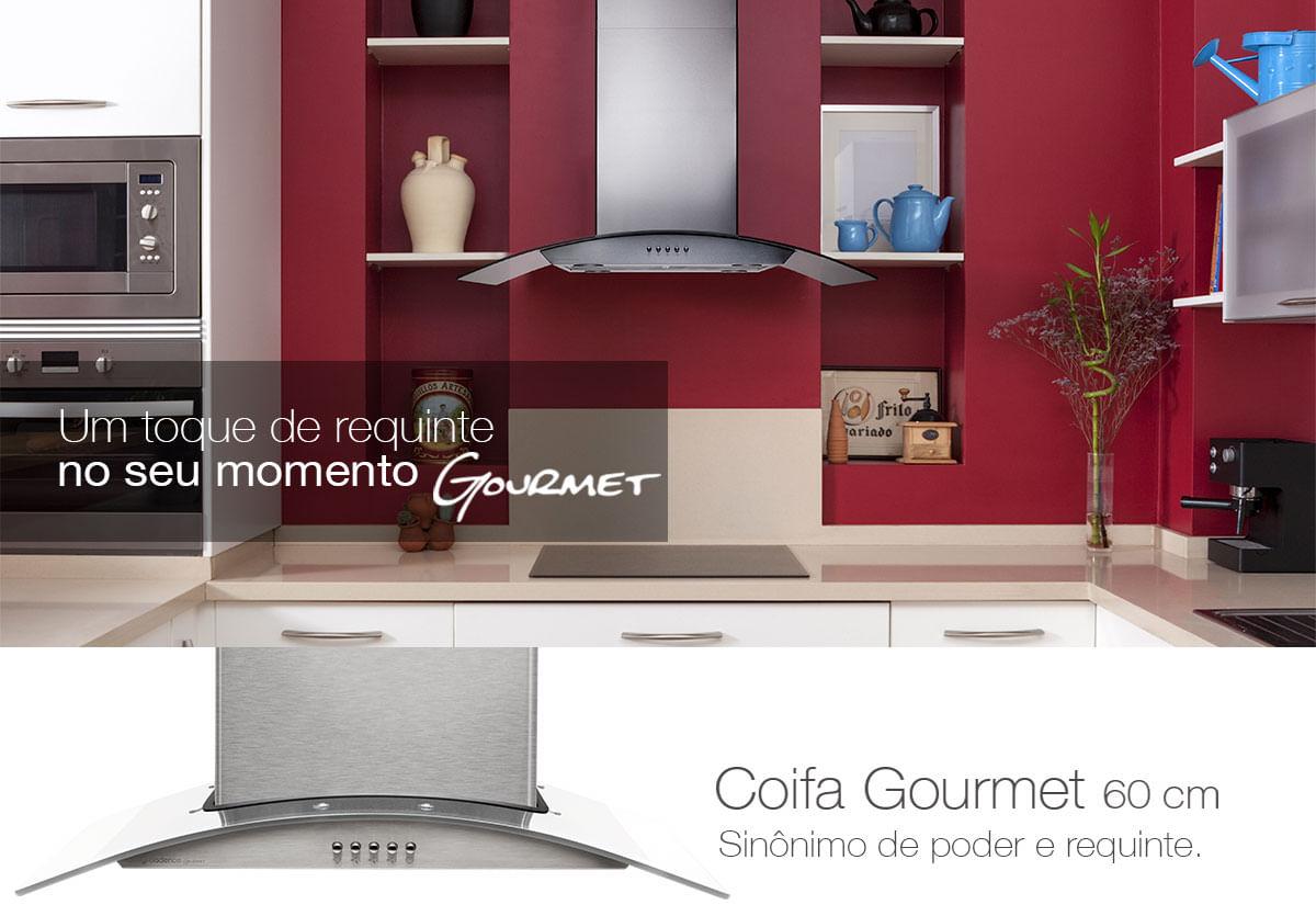 Coifa De Parede Cadence Gourmet Vidro 60cm Cadence