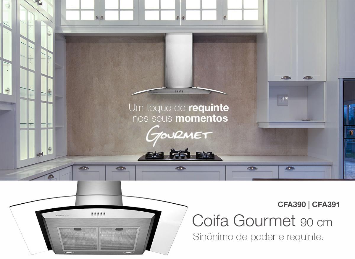 Coifa Gourmet Cadence Inox 90cm Cadence