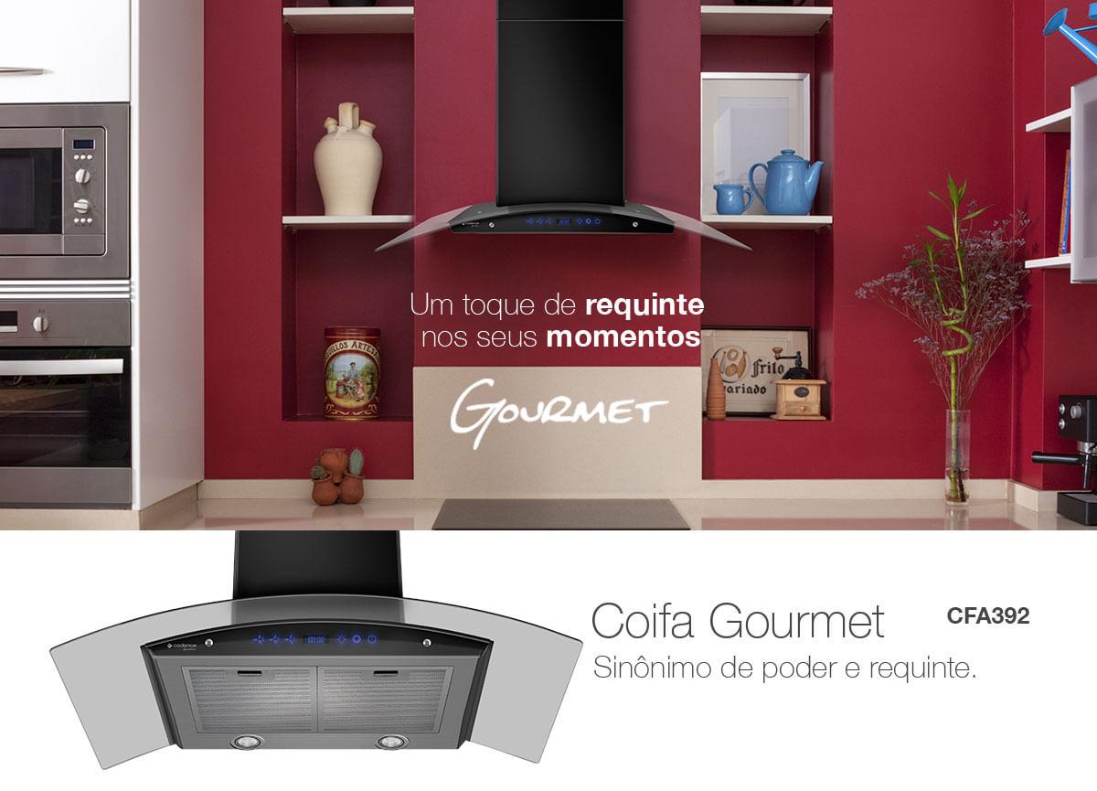 Coifa Gourmet Cadence Inox 90cm Exaustor E Depurador De Ar Cadence