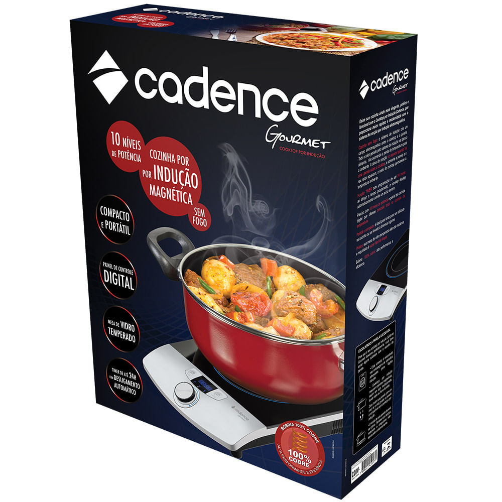 3302f846e Cooktop por indução Cadence Gourmet - Cadence