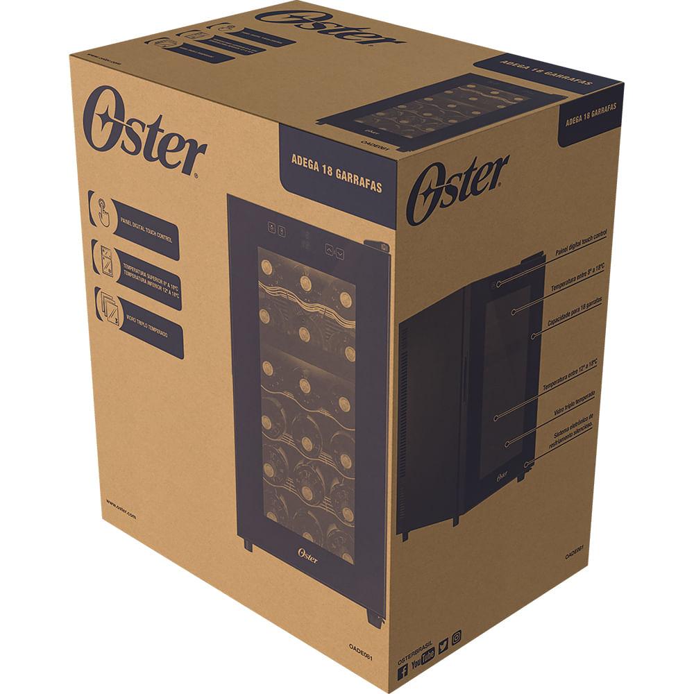 Adega Oster 18 Garrafas Dual Zone Touch Control