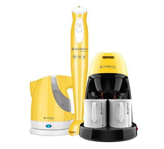 Kit-Cadence-Colors-Amarelo---Cafeteira---Mixer---Chaleira