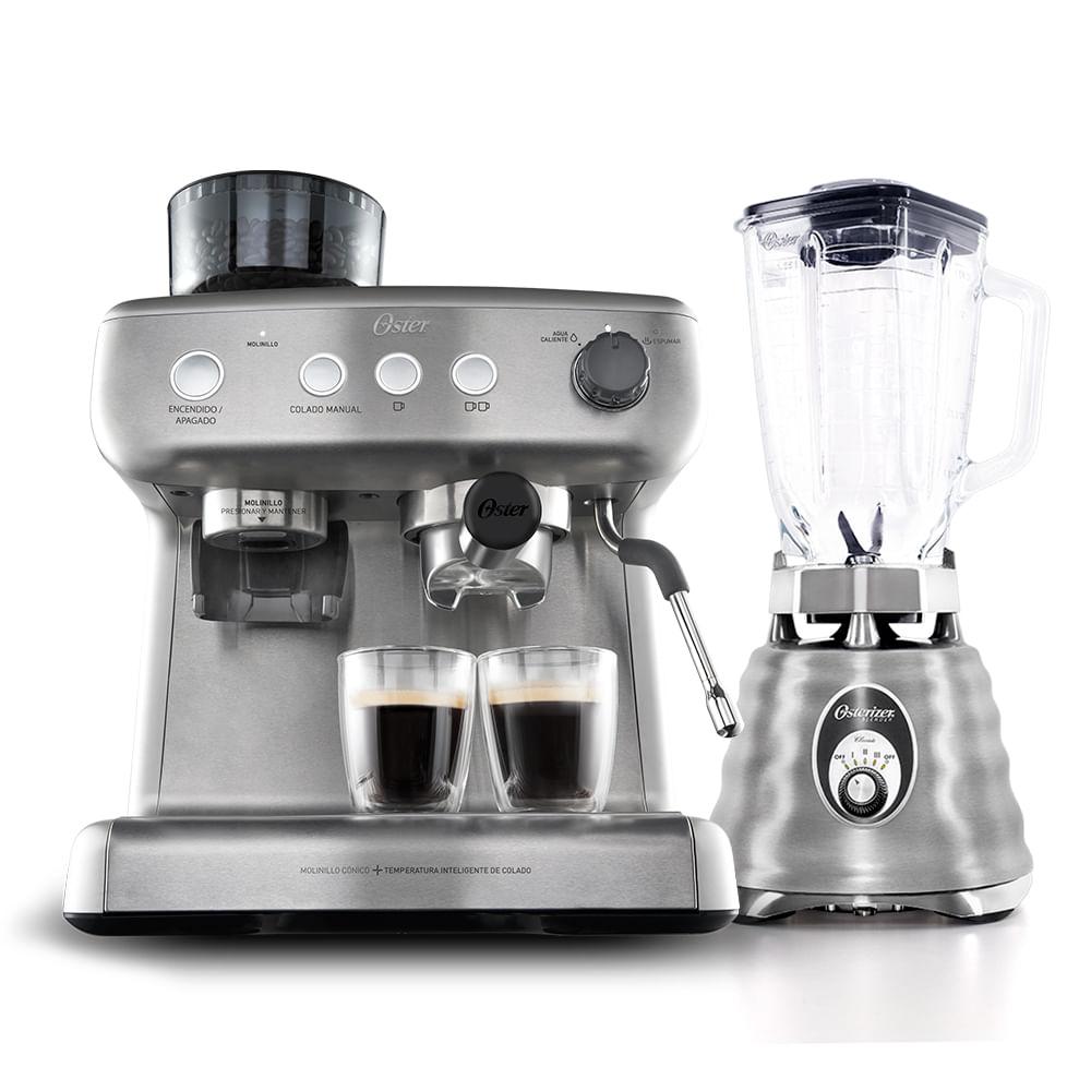 Kit Cafeteira Espresso Xpert e Liquidificador Osterizer Aço Escovado