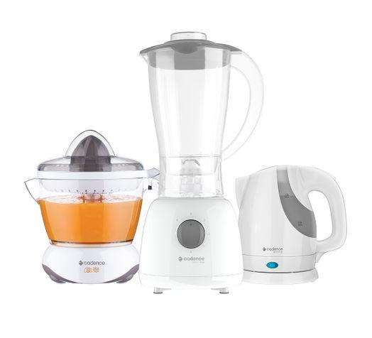 Kit-Cozinha-Branca-Cadence---Liquidificador---Chaleira---Espremedor