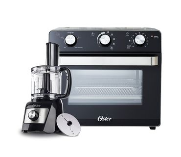 Kit-Forno-Eletrico-e-Fryer-22L-e-Processador-de-Alimentos-Compacto-Oster