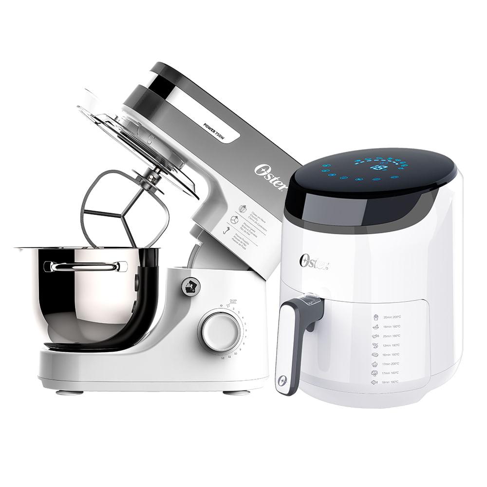 Kit Fritadeira Digital Fryer e Batedeira Planetária White Oster