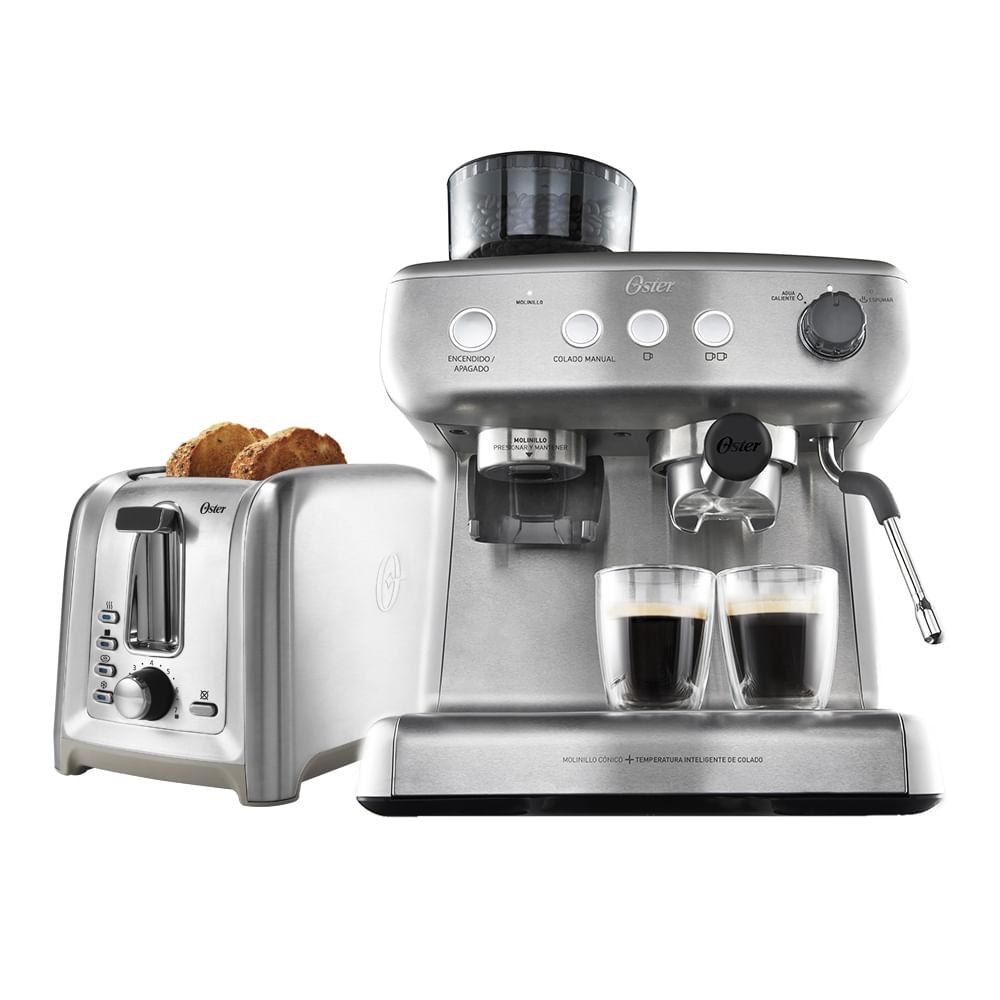 Kit Cafeteira Espresso Perfect Brew e Torradeira Inox Oster