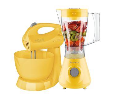 Kit-Cadence-Colors-Amarelo-Liquidificador-e-Batedeira