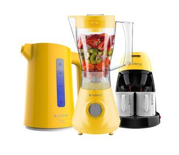 Kit-Cadence-Colors-Amarelo-LiquidificadorCafeteiraChaleira