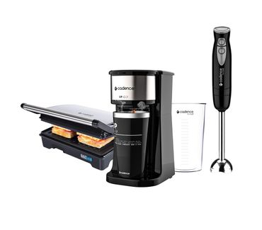 Kit-Cadence-Black-Cafeteira-Grill-Mixer