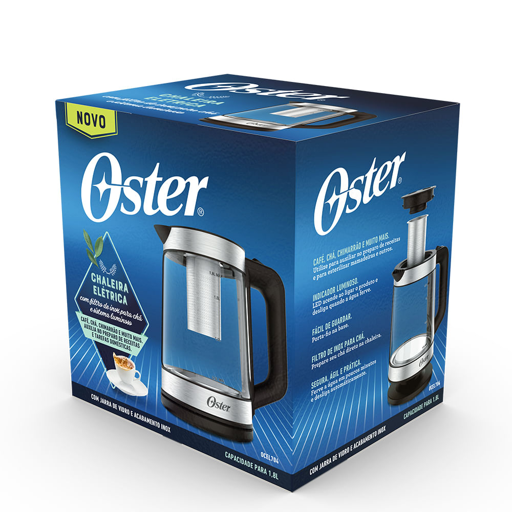 Chaleira Elétrica Oster Tea com Infusor de Chá 1,8L