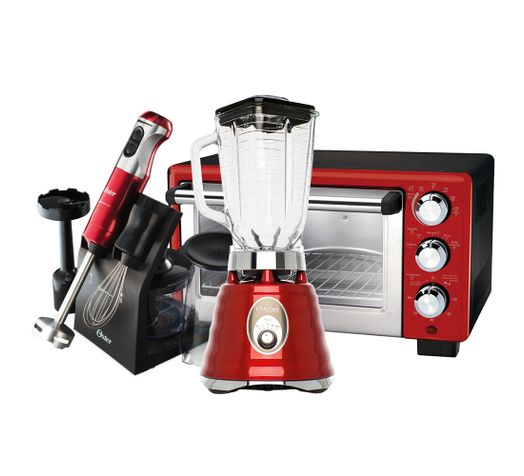 Kit-Liquidificador-Osterizer-Mixer-e-Forno-Vermelho-Oster