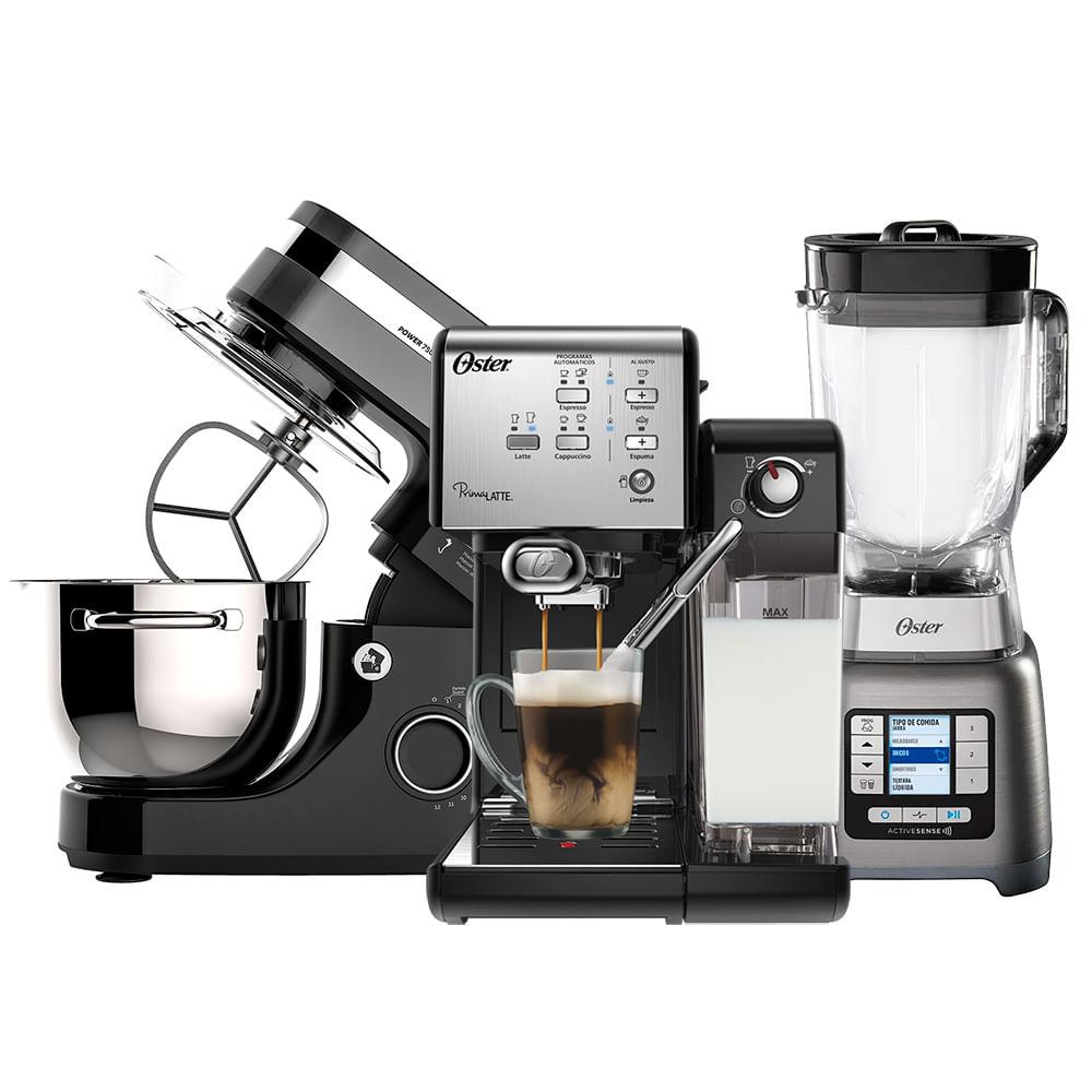 Kit Cafeteira Primalatte - Batedeira e Liquidificador Active Sense Oster