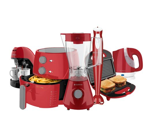 Kit-Cadence-Colors-Vermelho-Light-Fryer-Completo