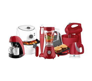 Kit-Cadence-Colors-Cozinha-Completa-Vermelha-e-Branca