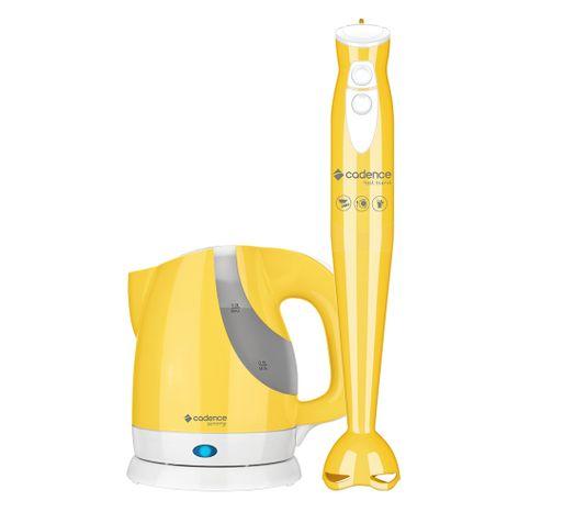 Kit-Cadence-Colors-Amarelo-Mixer-e-Chaleira
