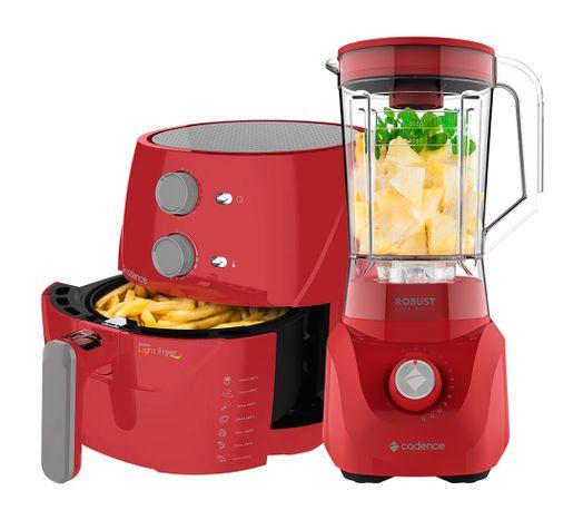 Kit-Cadence-Red-Fritadeira-Sem-Oleo-e-Liquidificador-Robust