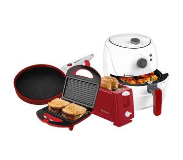 Kit-Cadence-Colors-Vermelho-e-Branco-Cook-Fryer-e-Creps