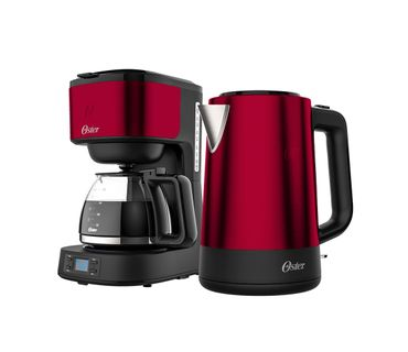 Kit-Cafeteira-e-Chaleira-Eletrica-Oster-Day-Light-Red