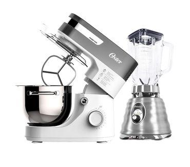 Kit-Batedeira-Planetaria-White-Bowl-Inox-e-Liquidificador-Osterizer-Aco-Escovado